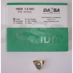 Inserto Cuerdas 16ER 1.5 ISO P25